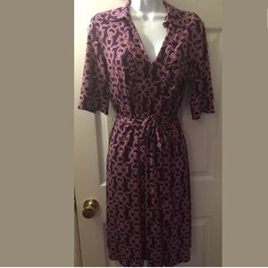 BANANA REPUBLIC Shirt Dress Chain Print Jersey